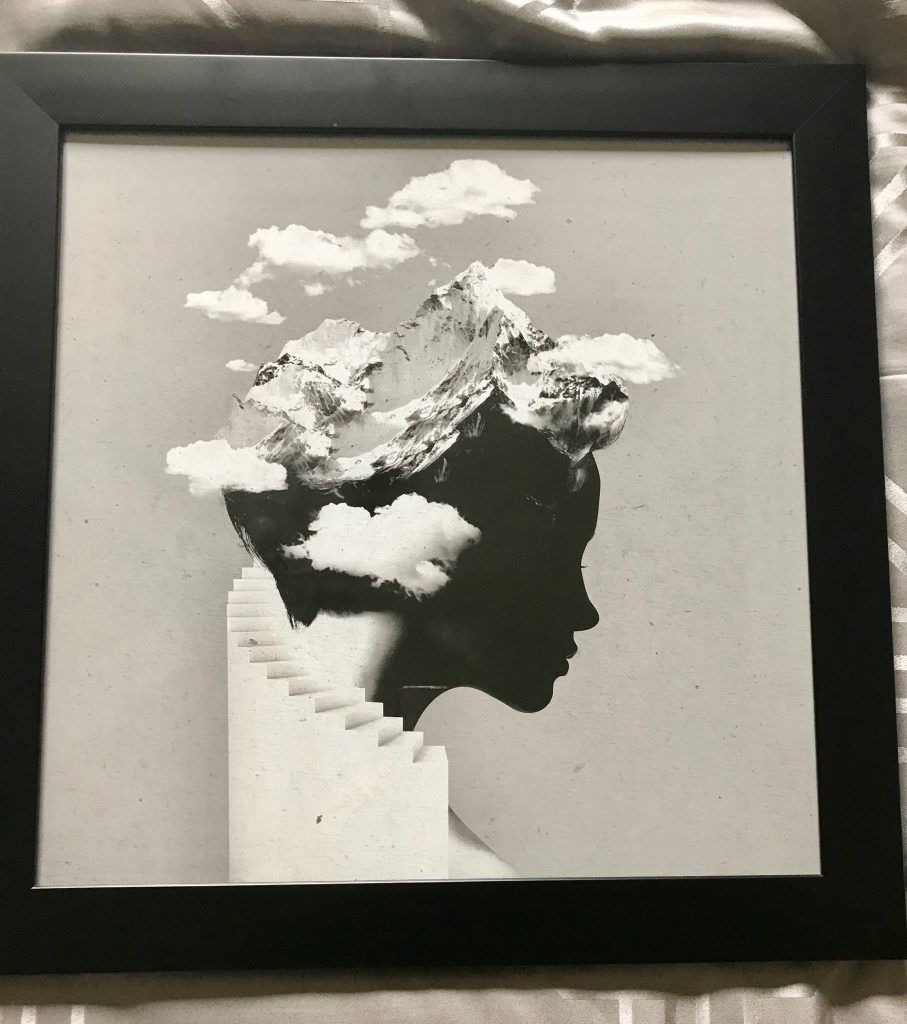 Head in clouds art