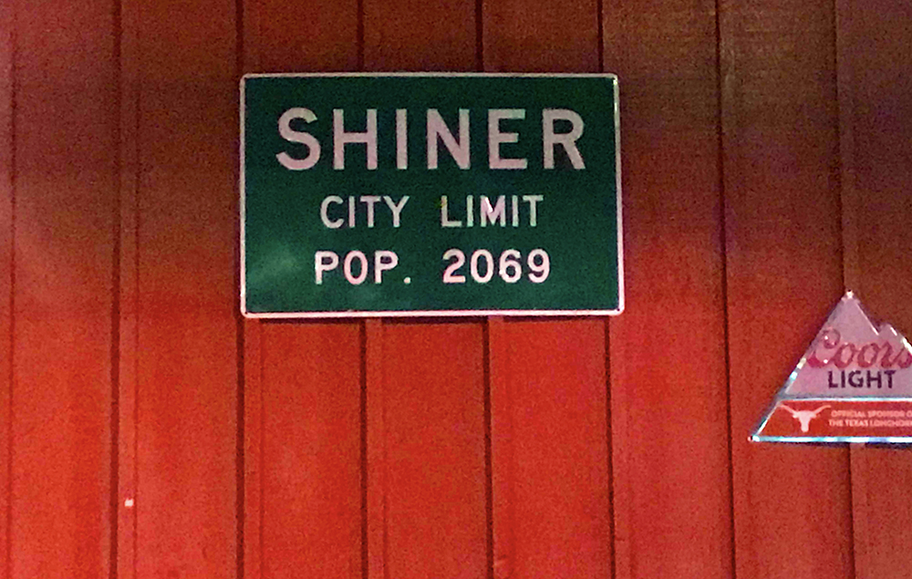 Shiner beer sign