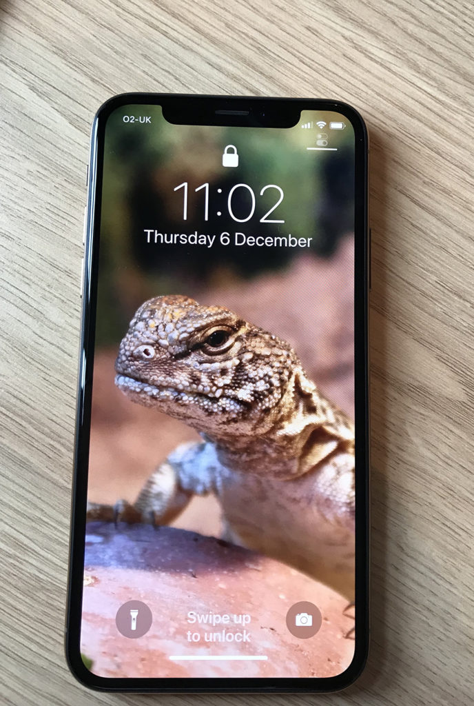 iPhone XS on table