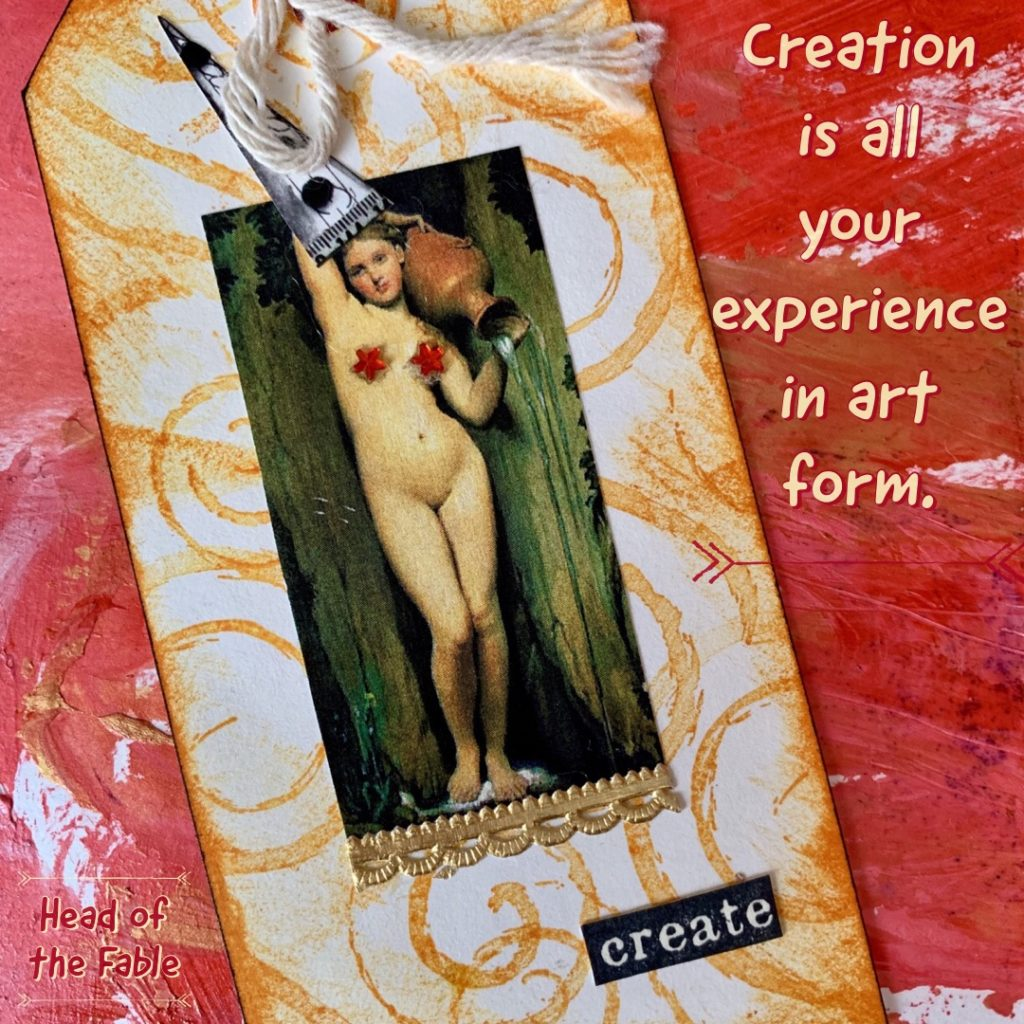 Creative mixed media post