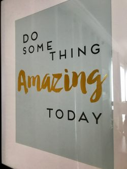 Positive wall hanging