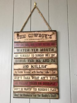 The Cowboy Ten Commandments