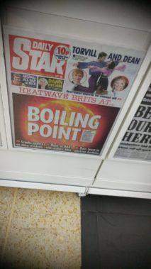 British heatwave tabloid cover