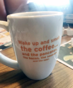 coffee mug at Denny's