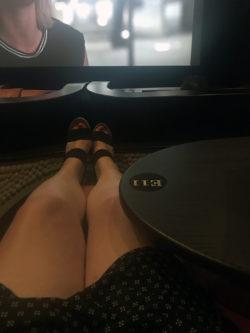 Girl Relaxing at iPic