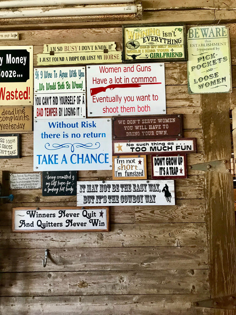 Amusing wall signs