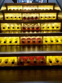 steps made from wine bottlesles