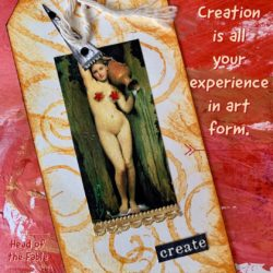 Creative mixed media post